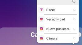 Instagram añade acceso directo a la cámara o nueva publicación