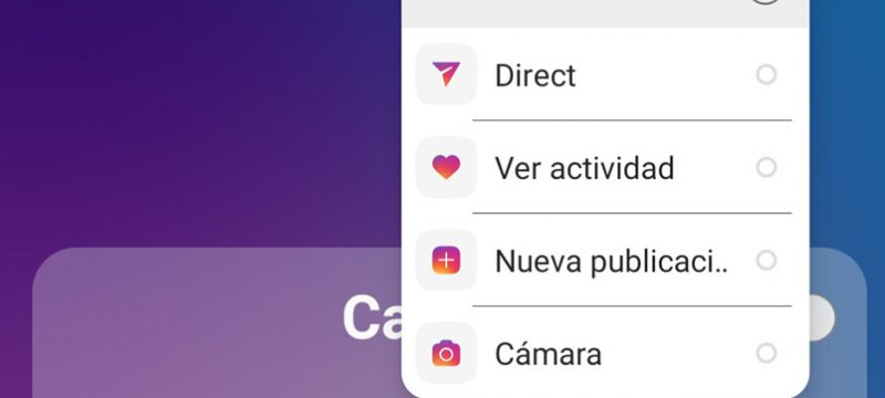 Instagram Accesos Android