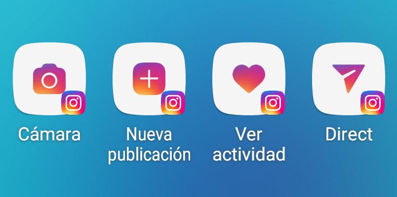Instagram Accesos directos Android