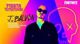 J Balvin dará un concierto virtual en Fiesta Campal de Fortnite