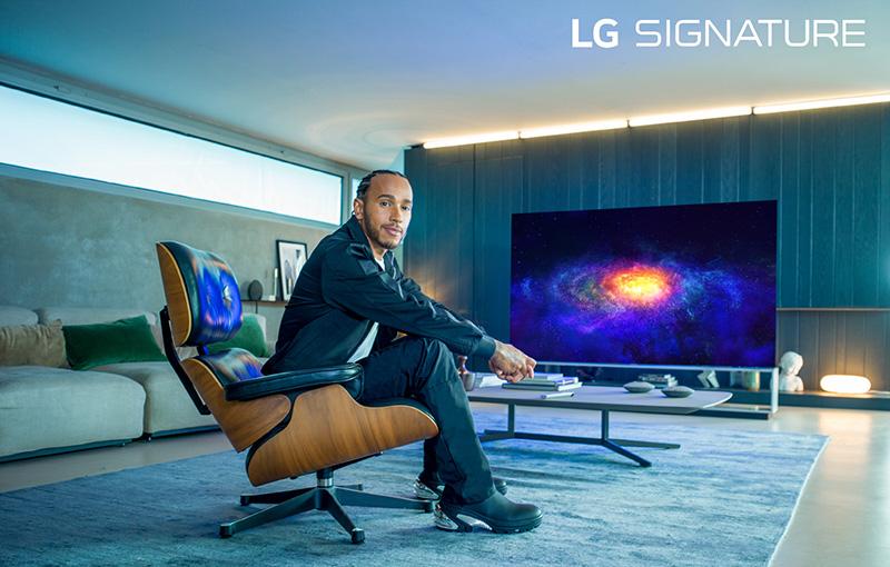 Lewis Hamilton es el nuevo embajador de LG SIGNATURE