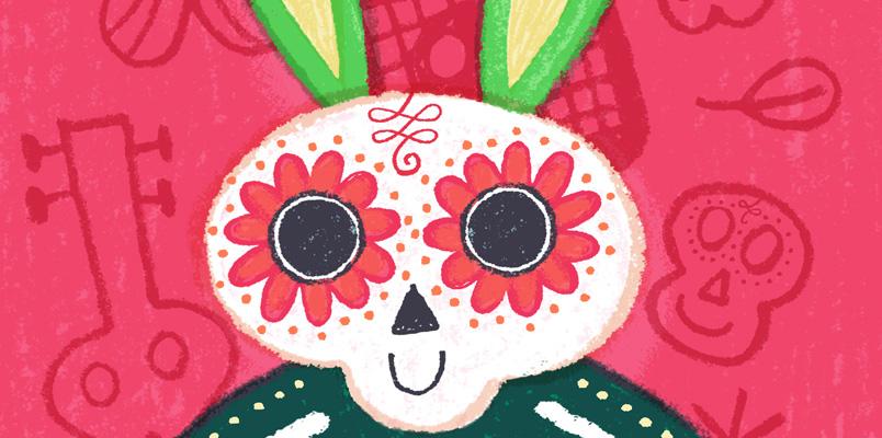 Mi Bunny se pone guapo para celebrar Halloween y Día de Muertos