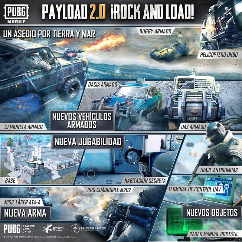PUBG MOBILE Payload 2.0 contenido