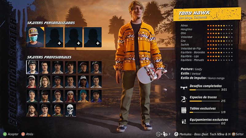 Tony Hawk's Pro Skater 1 and 2 Tony