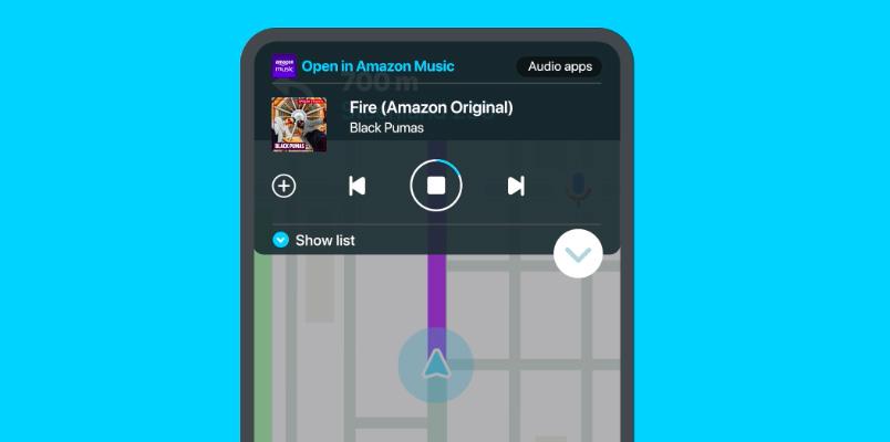 Escucha tus playlists de Amazon Music mientras conduces con Waze