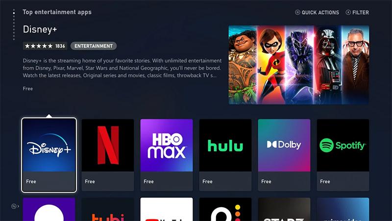 Estas apps de entretenimiento estarán en Xbox Series X | S