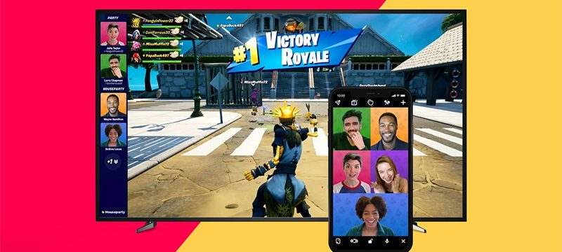 Fortnite videochat Houseparty