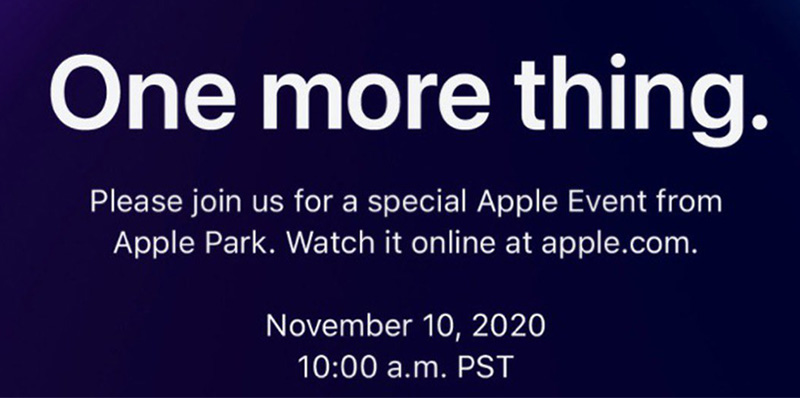 One More Thing Apple Evento noviembre 2020