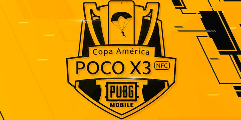 PUBG MOBILE Copa America PocoX3 2020 logo