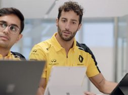 Renault DP World F1 Team Microsoft Surface