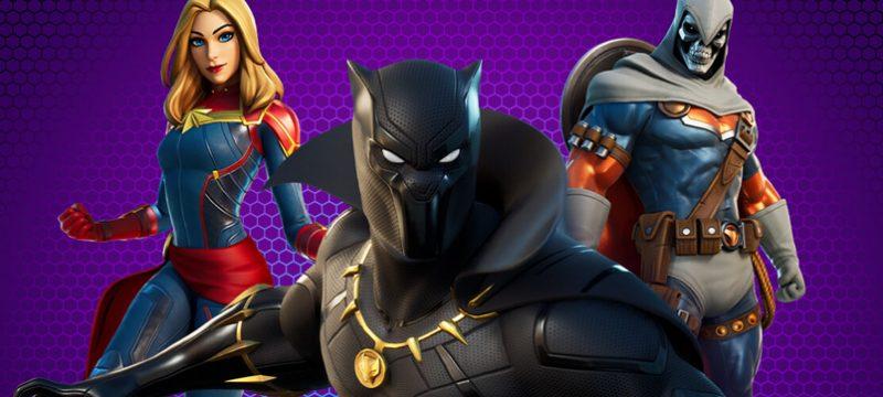 Black Panther, Captain Marvel, TaskMaster Fortnite