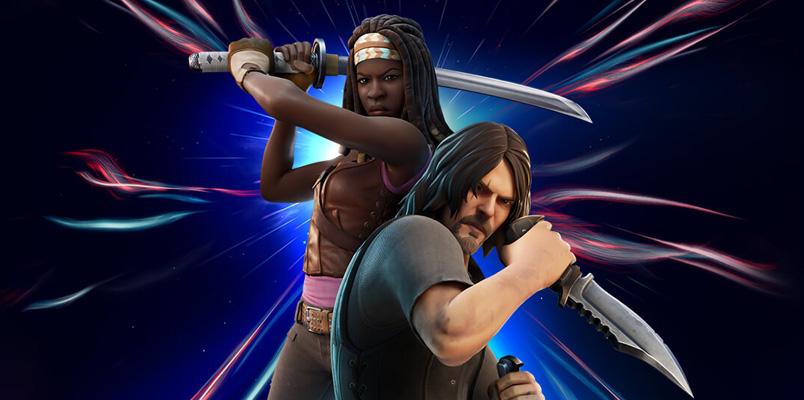 Daryl Dixon y Michonne ahora están cazando en Fortnite