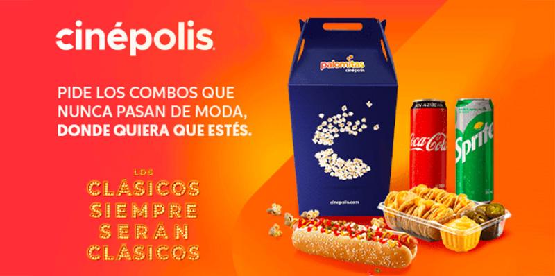 DiDi Food te lleva los mejores combos de Cinépolis a tu casa