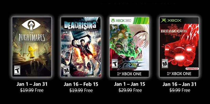 Little Nightmares y Dead Rising: Games with Gold de enero 2021