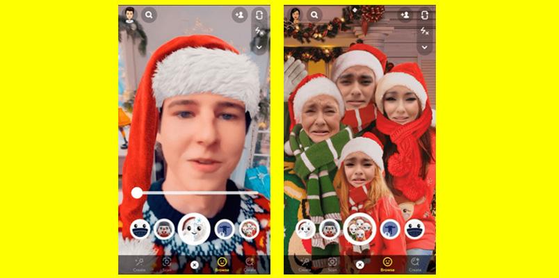 Lentes navidenos Snapchat
