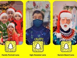 Lentes navidenos de Snapchat