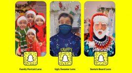 Celebra la navidad con los nuevos Lentes navideños de Snapchat