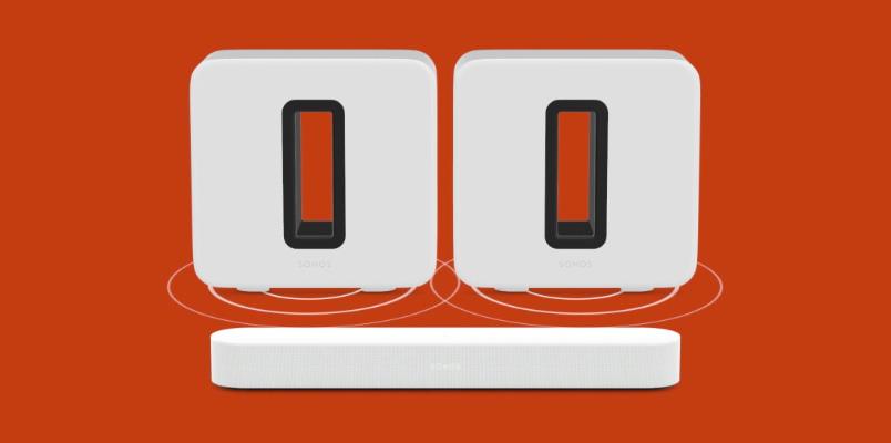 Sonos permite añadir otro Sub a una configuración de cine en casa
