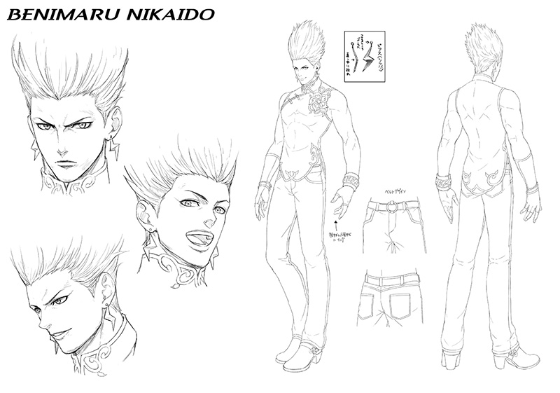 The King Of Fighters XV arte BENIMARU-NIKAIDO