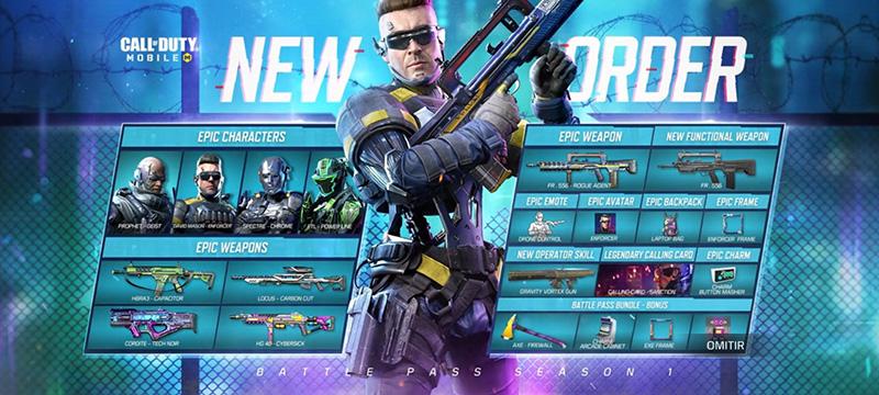 Call of Duty Mobile Nuevo Orden Contenido Pase de Batalla