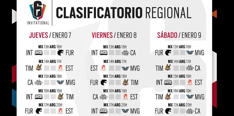 Equipos Clasificatorias Six Invitational 2021