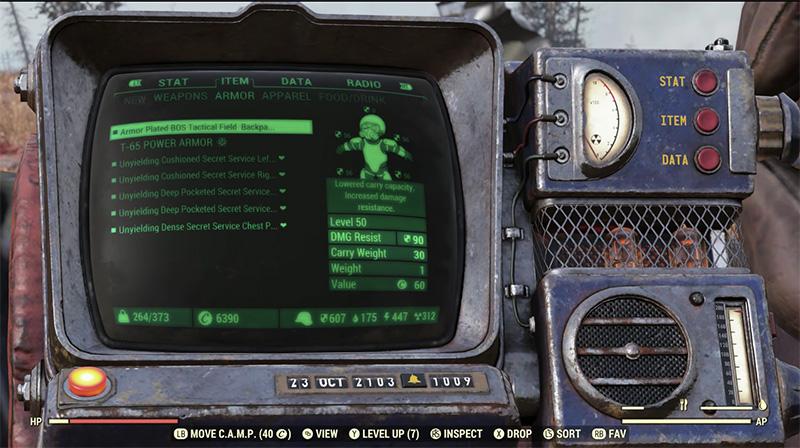 Fallout 76 le da mejoras al Pip-Boy y muchas cosas más