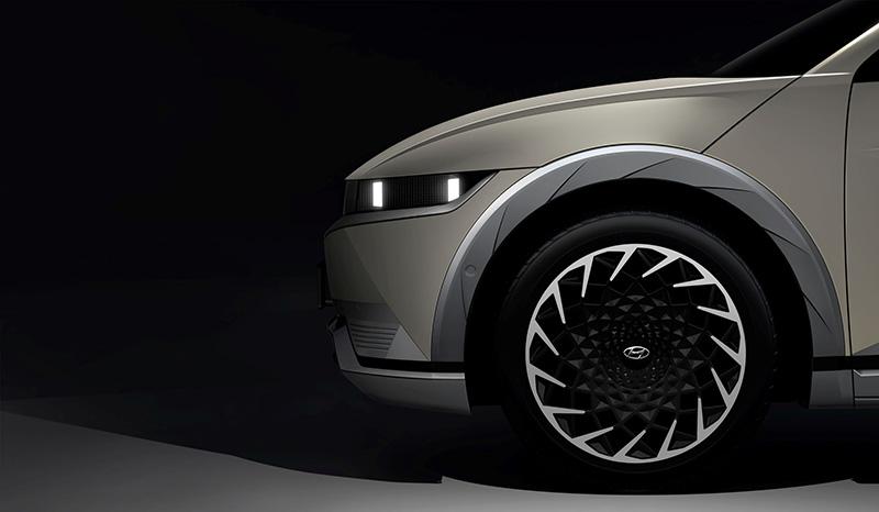 Hyundai Motor Company IONIQ 5 teaser frontal rines