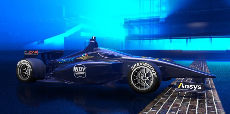Indy Autonomous Challenge presenta auto de carreras autónomo