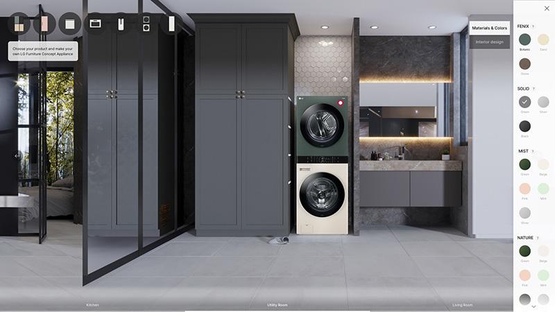 LG Furniture Concept Appliances CES 2021 WashTower