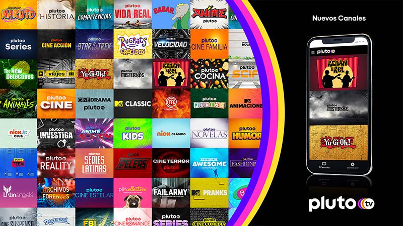 Pluto TV canales 2021 enero