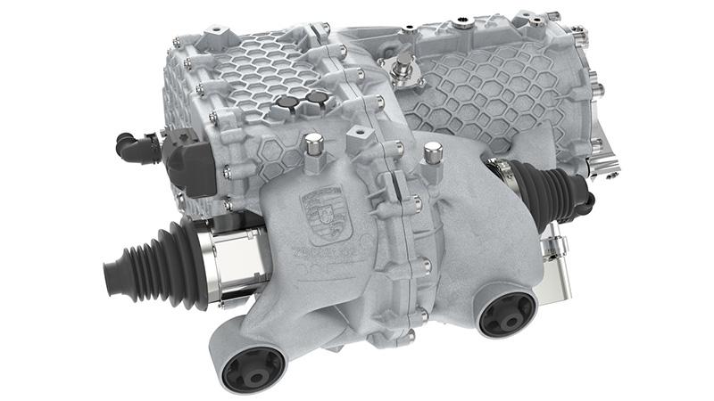 Porsche carcasa de motor electrico autos