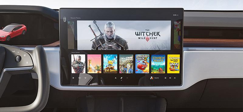 Tesla Model S 2021 interior pantalla juegos