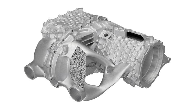 carcasa de motor electrico Porsche