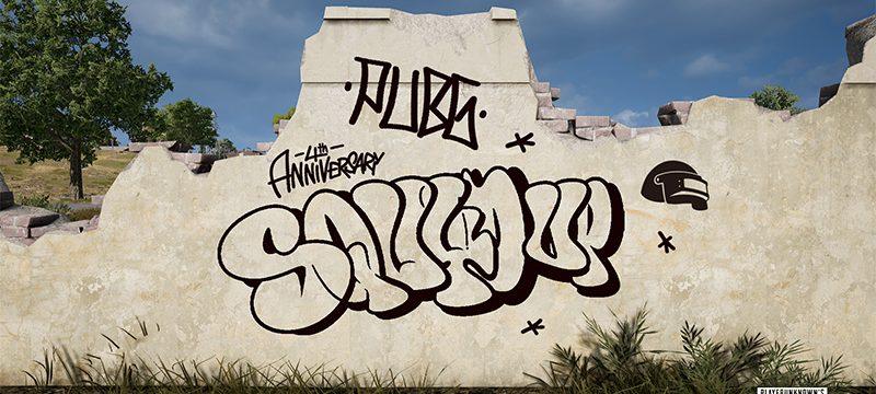 graffiti PUBG 4 aniversario