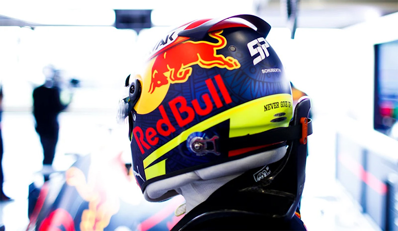 Checo Perez Red Bull Racing casco 2021