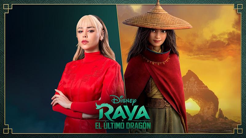 Danna Paola presta su voz a Raya de Raya y El Último Dragón
