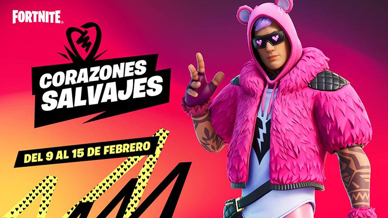 Celebra San Valentín con el evento Corazones salvajes de Fortnite