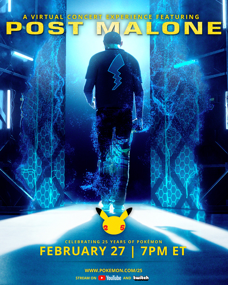 Post Malone x Pokemon Virtual Concert Poster