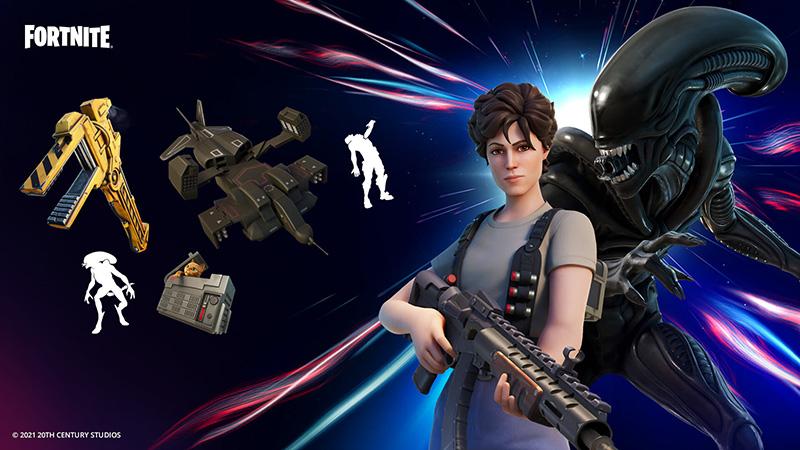 Ripley y Xenomorfo Lote Fortnite