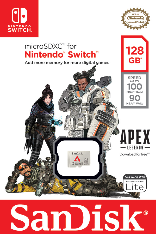 SanDisk microSDXC Apex Legends empaque