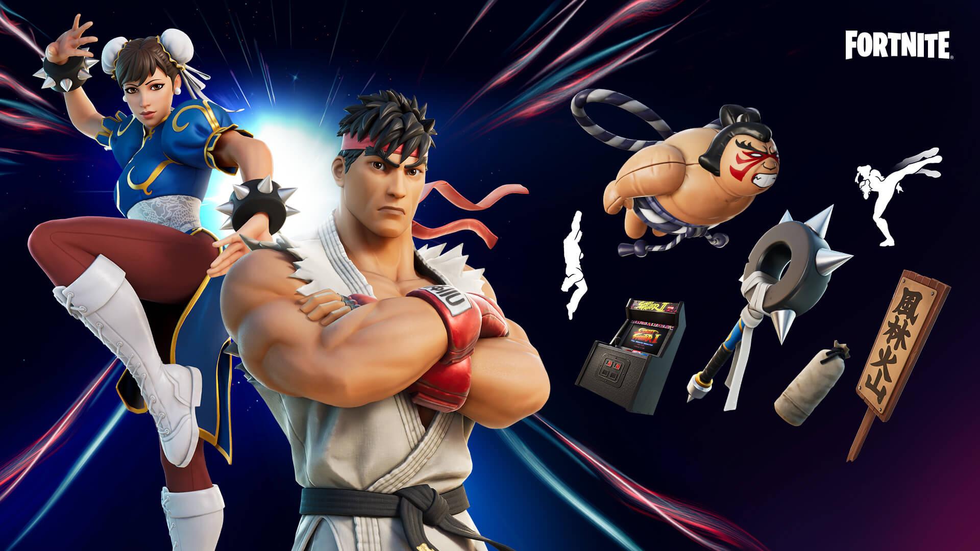 Street Fighter x Fortnite lote