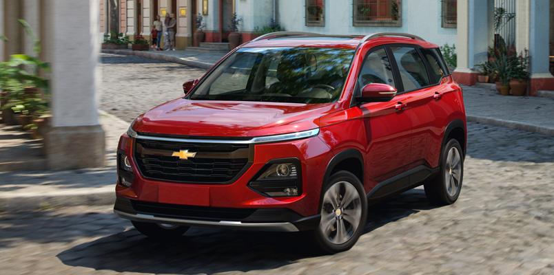 Chevrolet Captiva 2022 en México con motor turbo para 7 pasajeros
