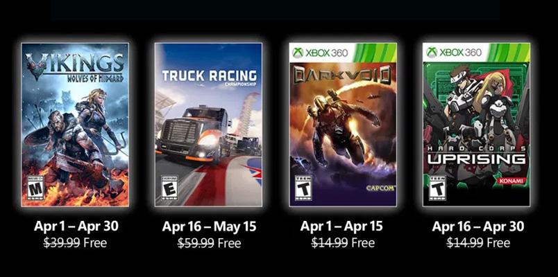 Estos son los nuevos Games with Gold para abril de 2021