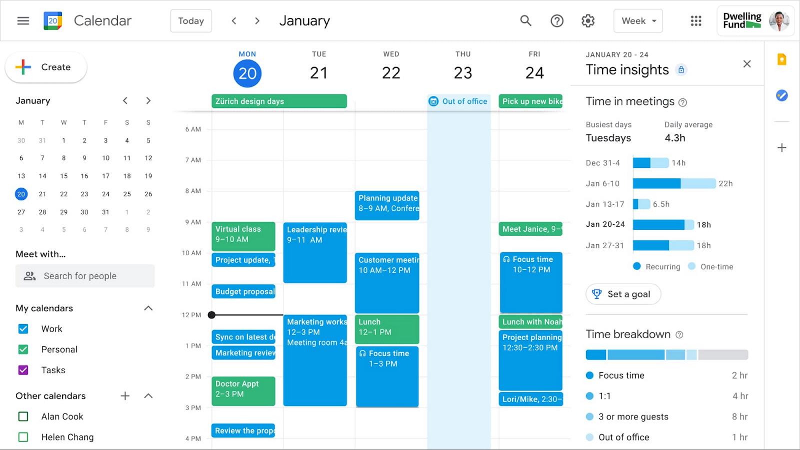 Google Workspace Calendario