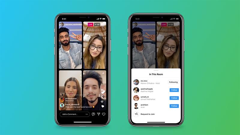 Instagram Salas en vivo 4 personas
