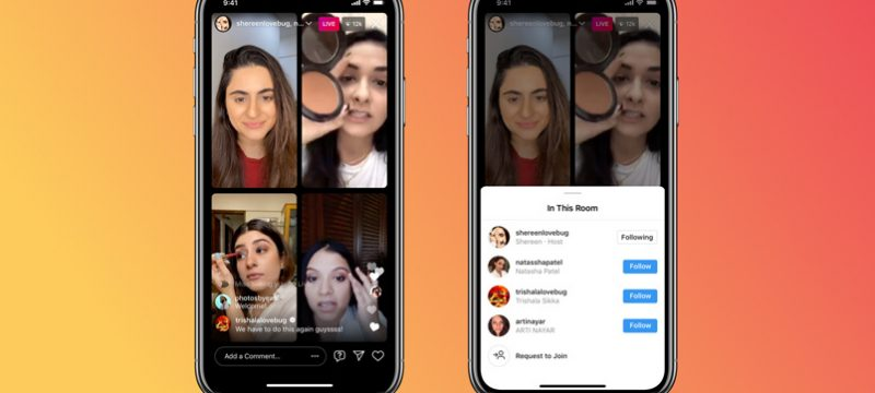 Instagram Salas en vivo