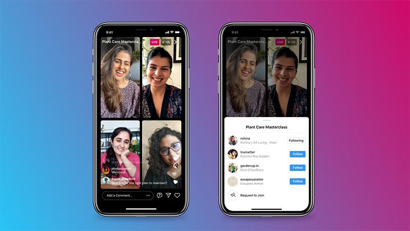 Instagram Salas en vivo personas