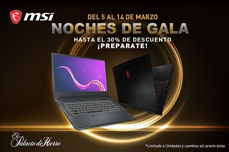 Laptops gaming MSI Noches de Gala