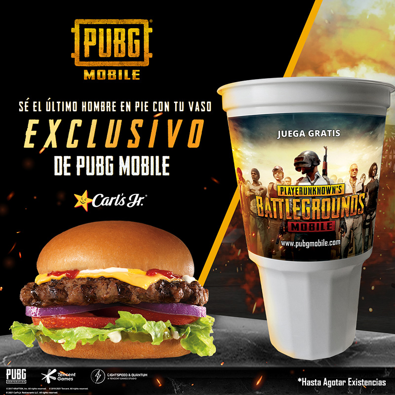 PUBG MOBILE Carls Jr Mexico Vaso