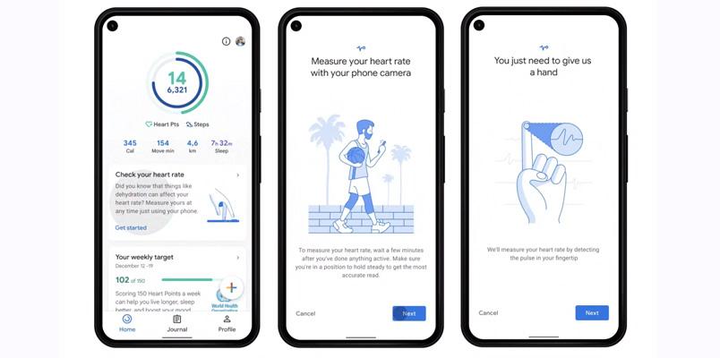 Rastreadores Frecuencia cardiaca Google Fit
